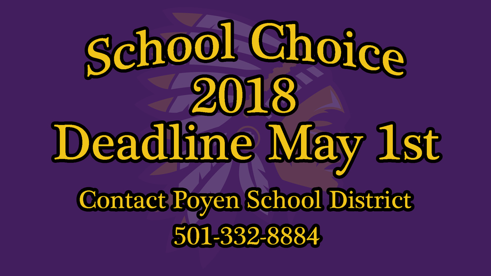 School Choice Deadline